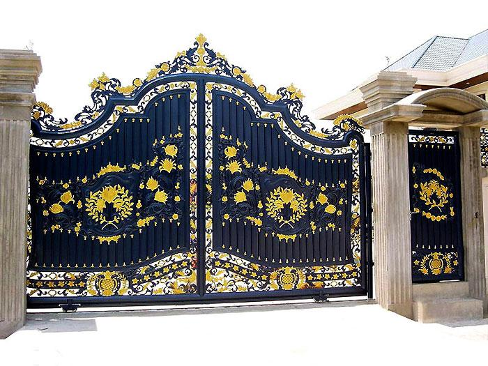 Custom Design Alloy Aluminum And Wrought Iron Artistic Gates